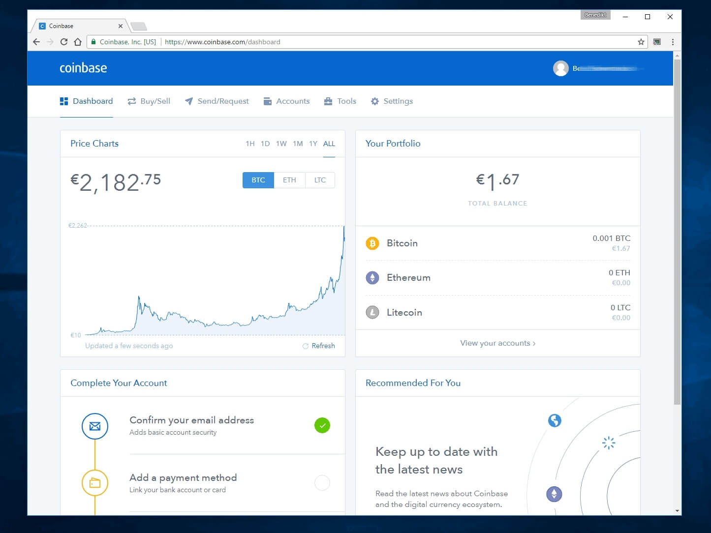 coinbase earn dashboard