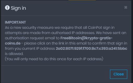 coinpot-verifikation