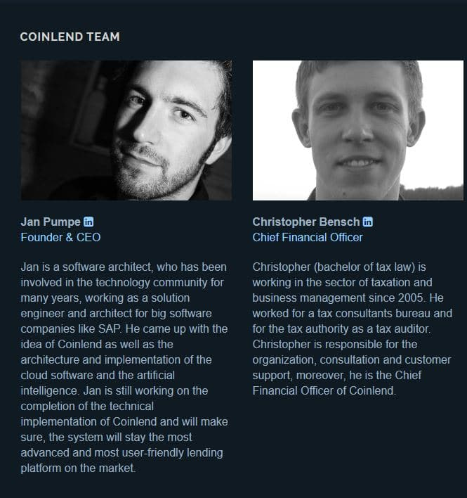coinlend team