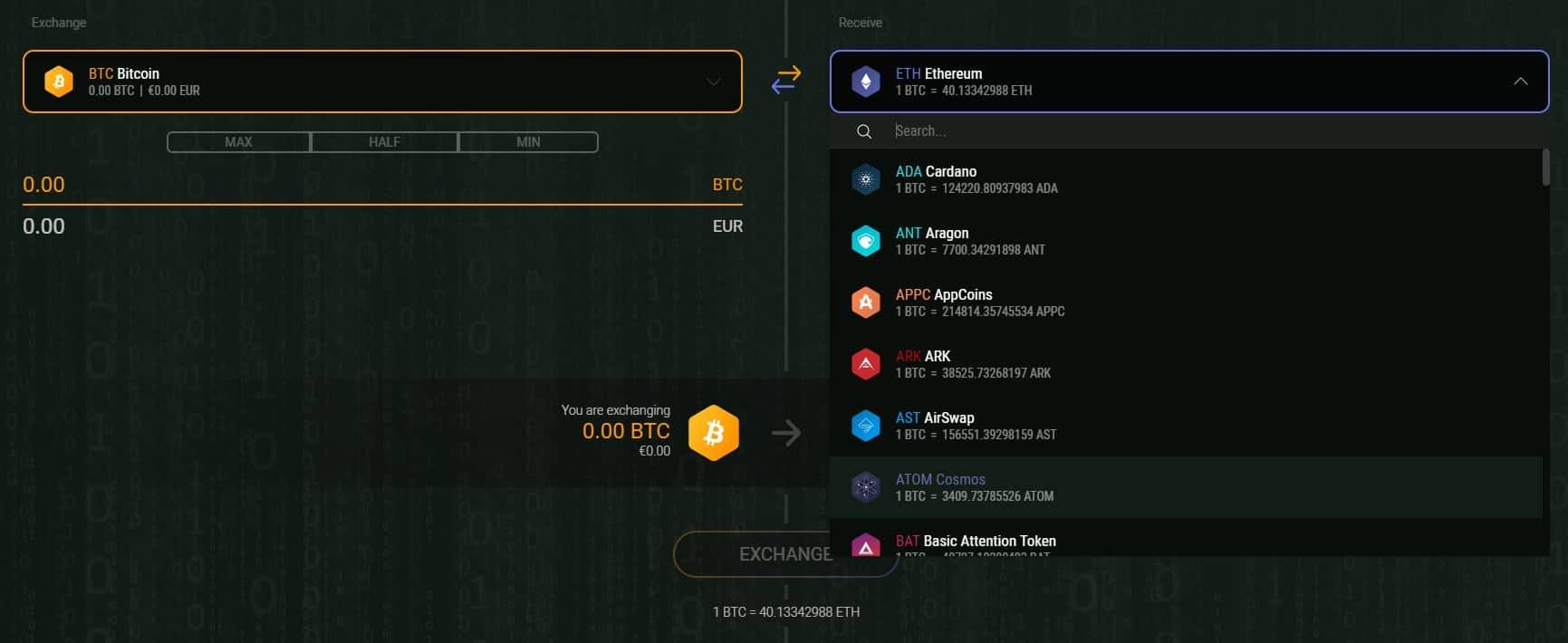 crypto wallet exodus