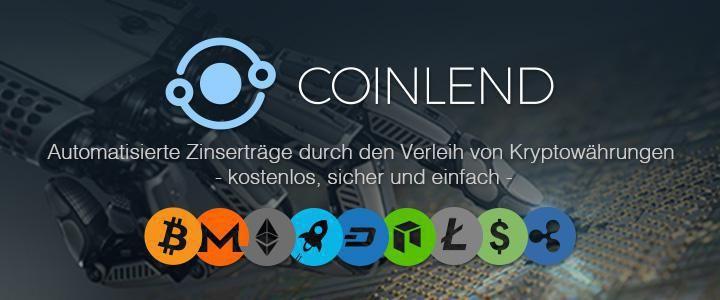 Coinlend Vorstellung 2020 – Geld verdienen mit Bitcoin und Altcoins
