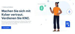 Kyber Network (KNC) gratis bei Coinbase Earn (6$) inkl. der Antworten