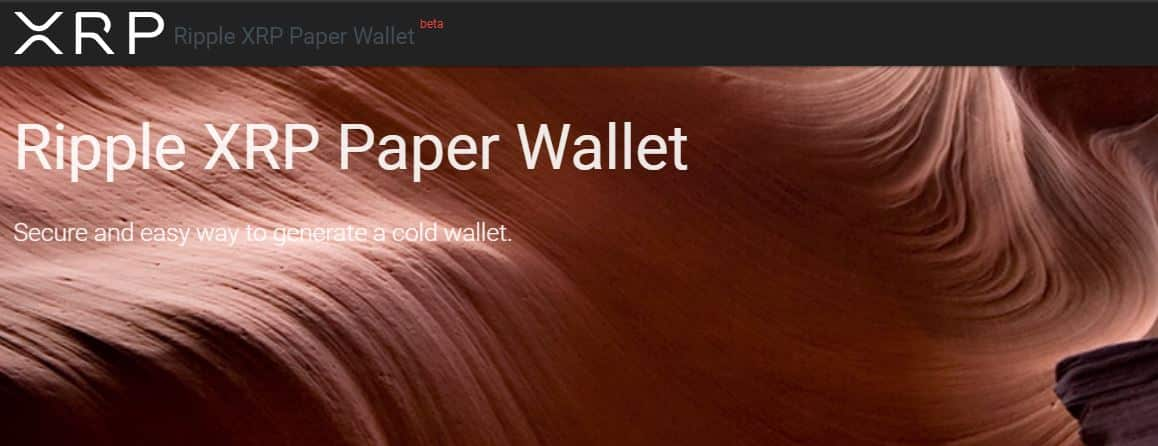 xrp paper wallet