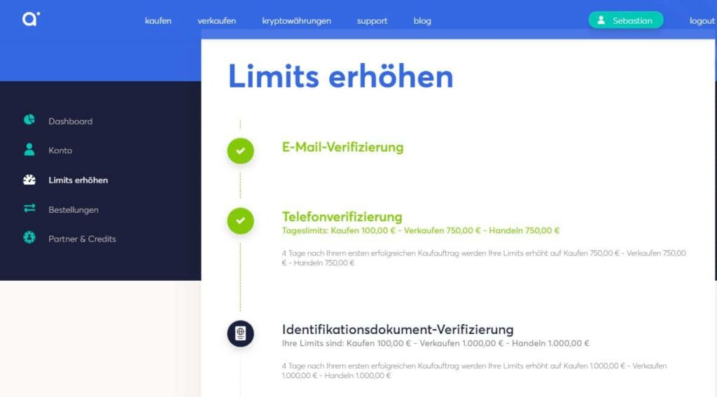anycoin-direct-limits-erhöhen