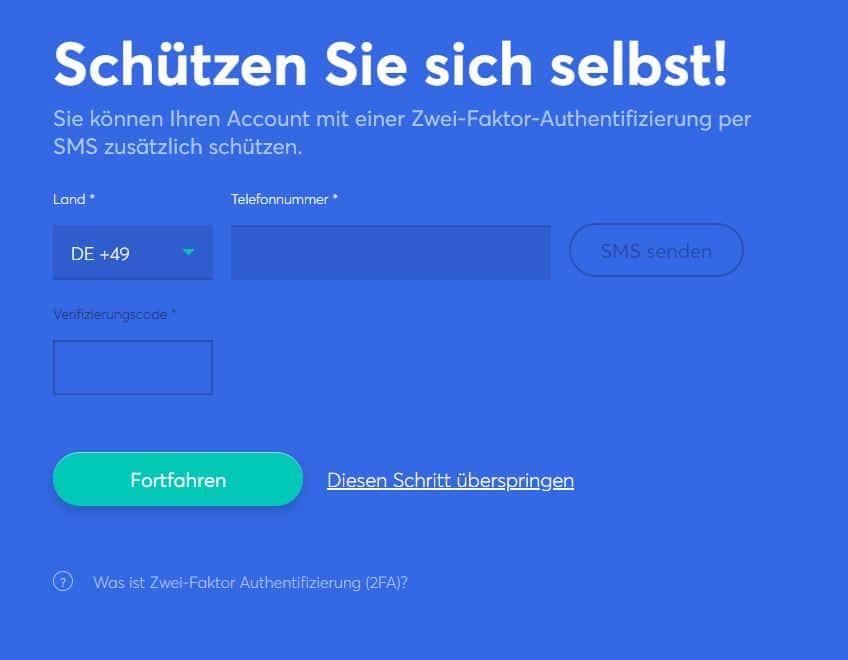 anycoin-sms-verifikation