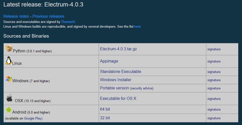 electrum wallet download