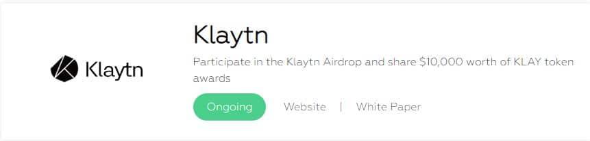 klaytn coin airdrop