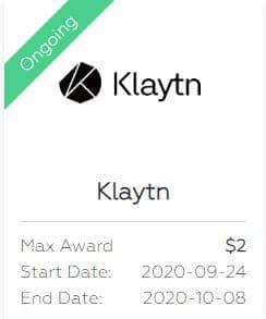 Klaytn Coin Airdrop bei Blockzone