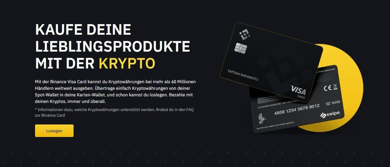 binance card programm