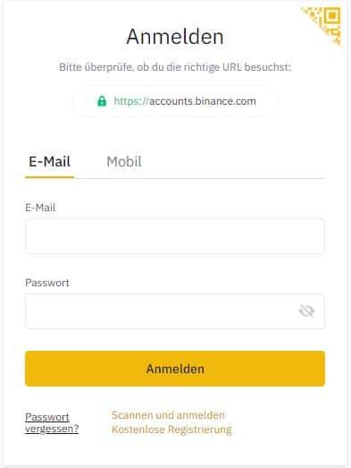 binance registrierung mail 1 ripple kaufen