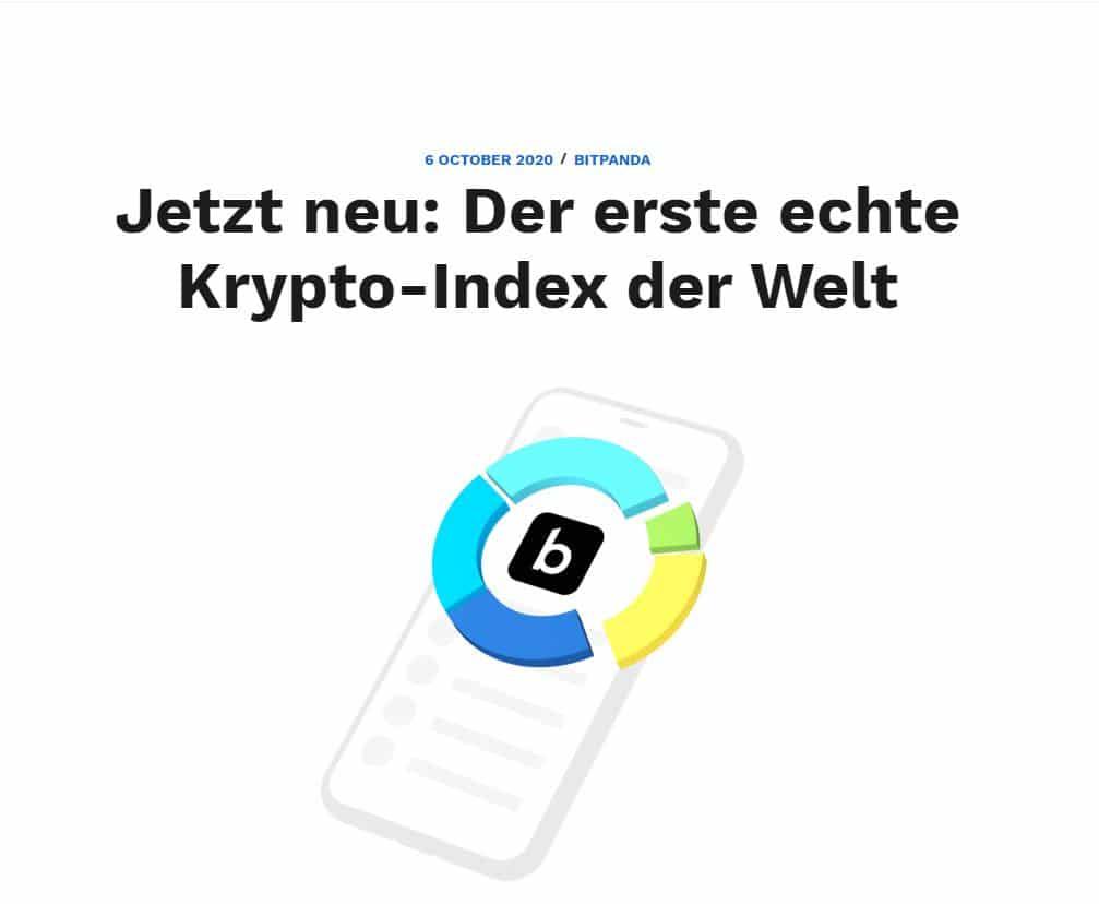 Bitpanda Krypto Index | Der erste echte Krypto-Index der Welt