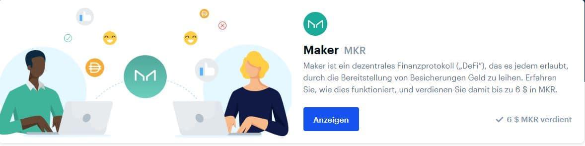 Coinbase Earn Maker (MKR) | 6 US-Dollar verdienen inklusive Antworten