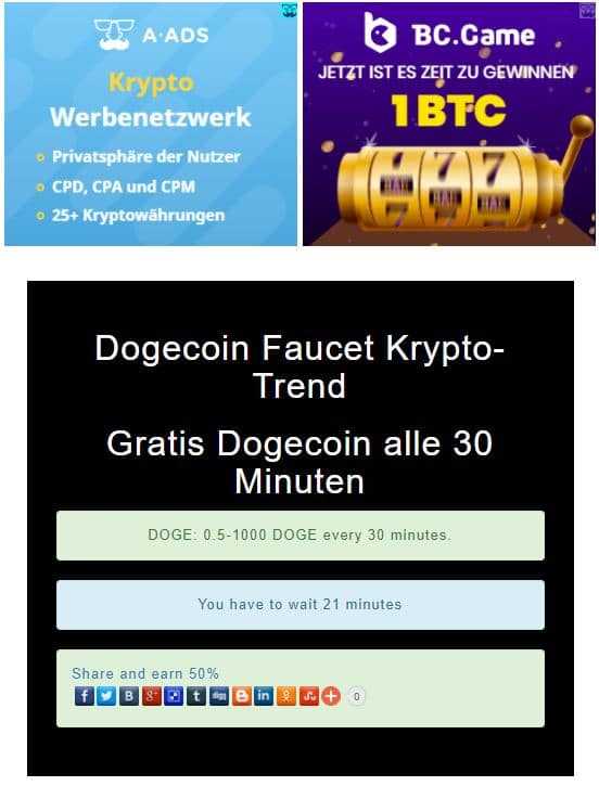 dogecoin-faucet-krypto-trend