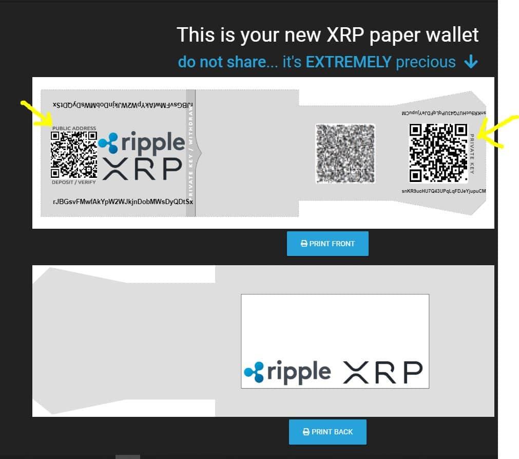 ripple paper wallet generator