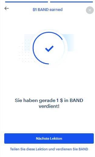 coinbase earn band antworten