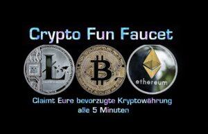 Crypto Fun Faucet | Top Faucet mit 8 Kryptowährungen alle 5 Minuten claimbar