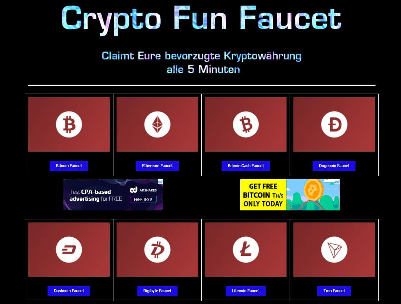 crypto fun faucet