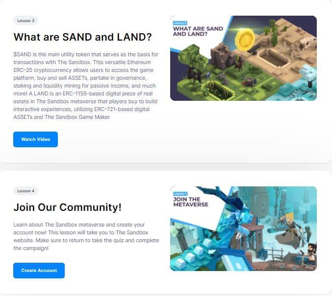 sandbox quiz 2 sandbox airdrop